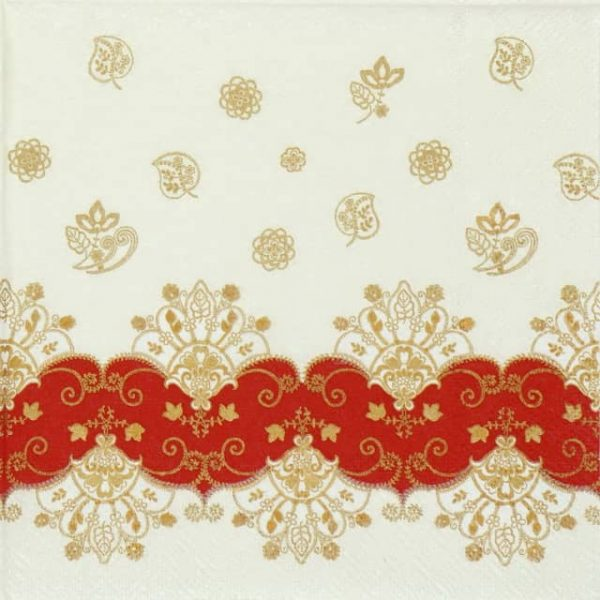 Paper Napkin - Acantha Red
