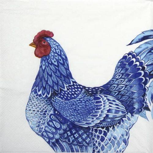 Paper Napkin - Blue Plumage