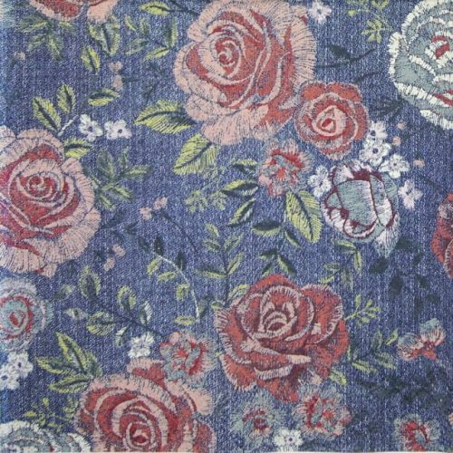 Cocktail Napkins (20) - Denim Rose