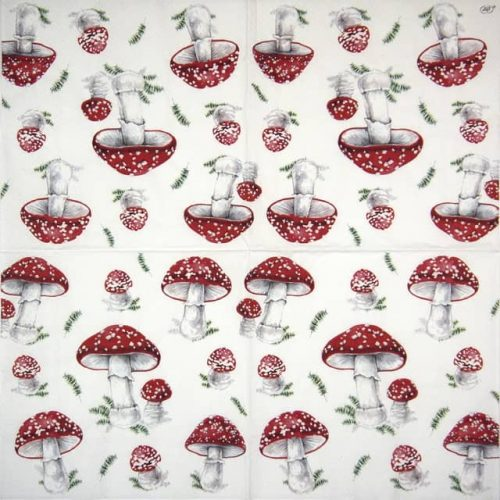 Lunch Napkins (20) - Fairy Tale Mushrooms