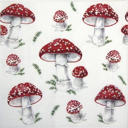 Lunch Napkins (20) - Fairy Tale Mushrooms