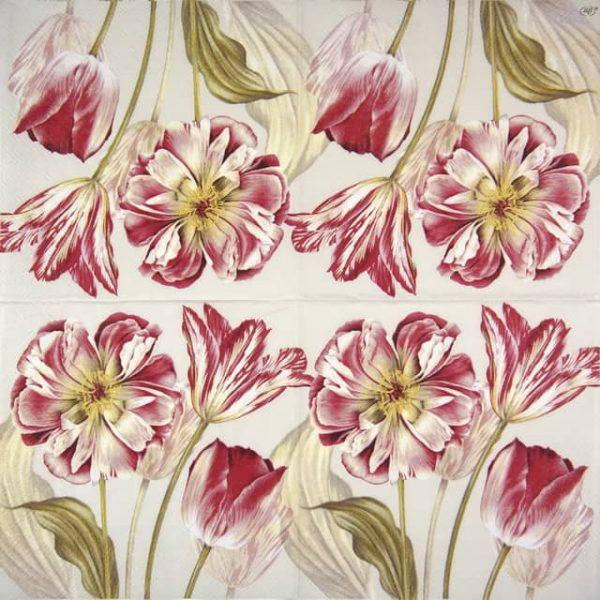 Paper Napkin - Majestic Tulips linen