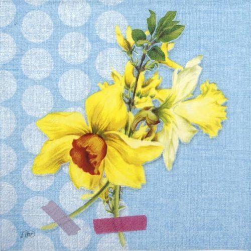 Paper Napkin - Narzisse blue