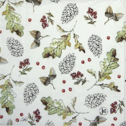 Cocktail Napkins (20) - Oak Leaf and Berries