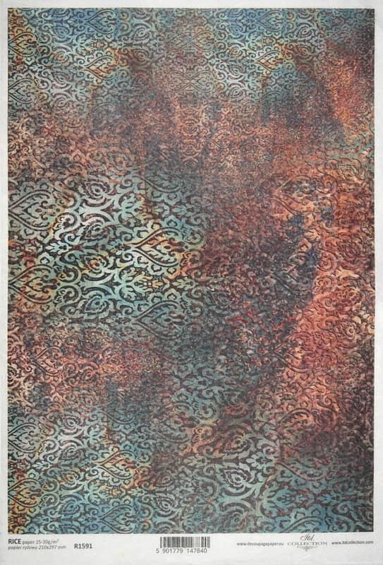Rice Paper - Metallic pattern