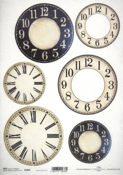 Rice Paper A/3 - Clockfaces #2