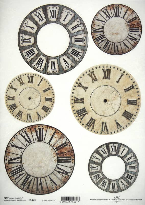Rice Paper A/3 - Clockfaces #1