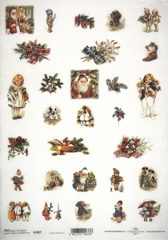 Rice Paper - Christmas Motives