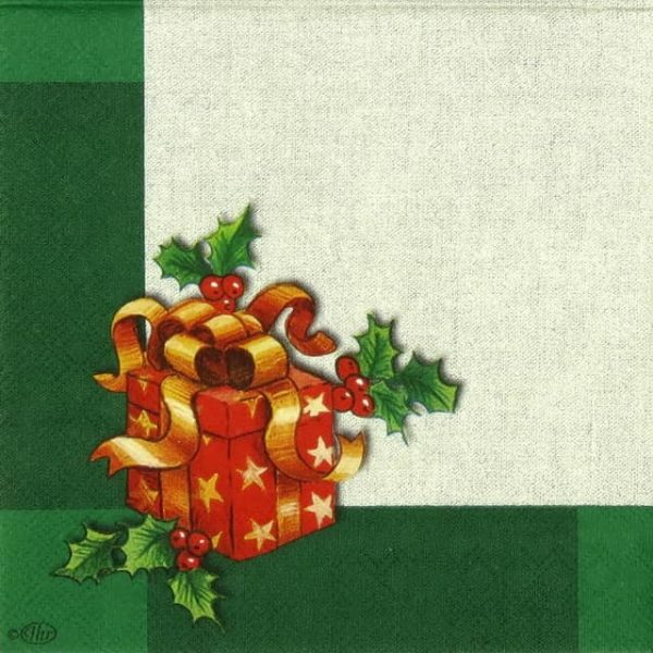 Paper Napkin - Ornaments on Linen