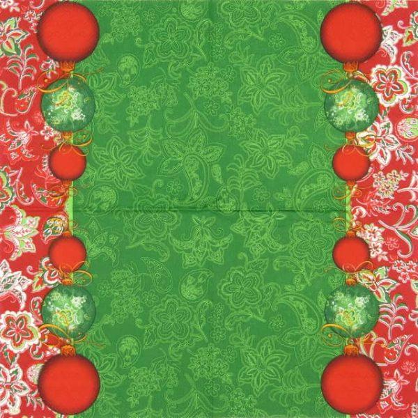 Paper Napkin - Facette Noel Green