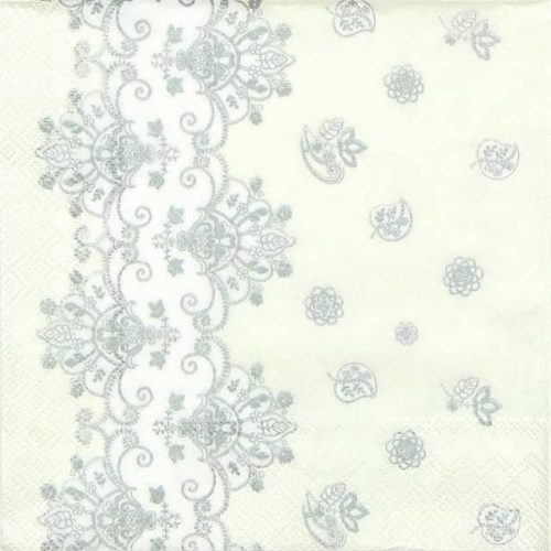 Paper Napkin - Acantha Silver