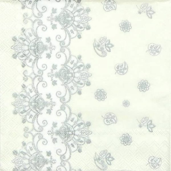 Paper Napkin - Acantha Silver