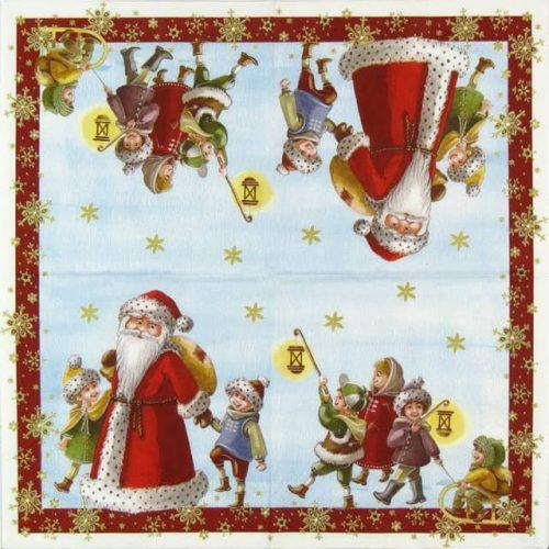 Paper Napkin - Santa with Kids_Ihr_593900