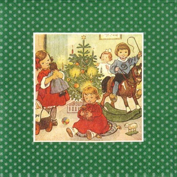 Paper Napkin - Fabulous Christmas green