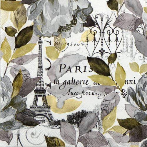 Lunch Napkins (20) - Jardin Paris grey