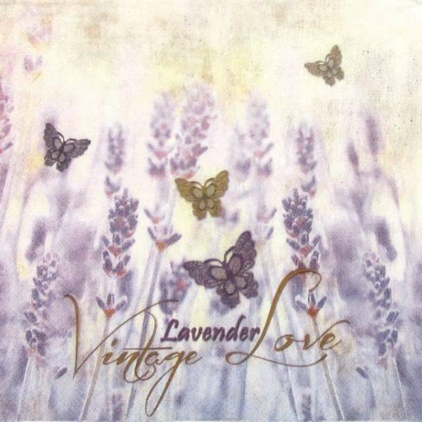 Lunch Napkins (20) - Vintage Lavender Love