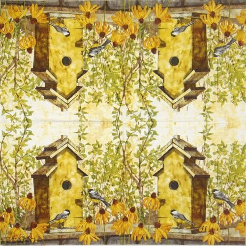 Lunch Napkins (20) - Birdhouse in fall