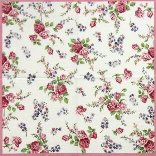 Paper Napkin - Rosamond Rose White
