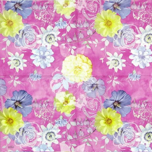 Paper Napkin - Bloomy Delight Pink