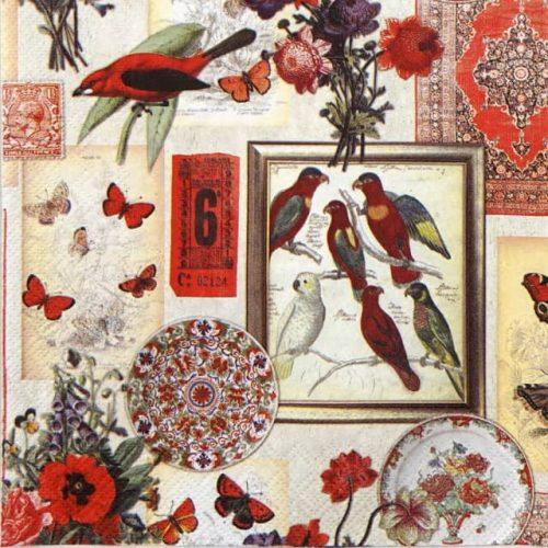 Paper Napkin - Exotic Collage