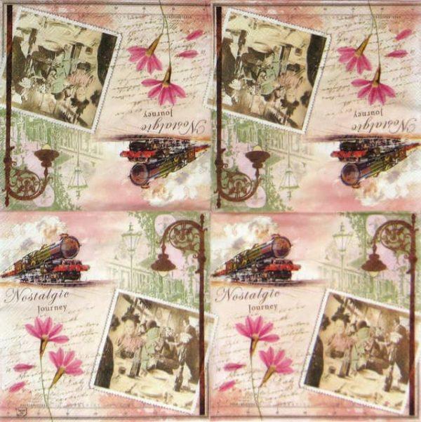 Paper Napkin - Nostalgic Journey
