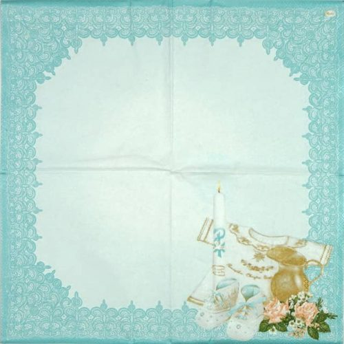Paper Napkin - Christening Composition blue