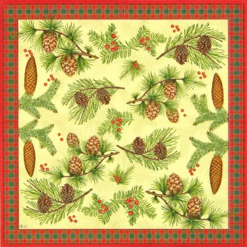 Paper Napkin - Conifer Cones