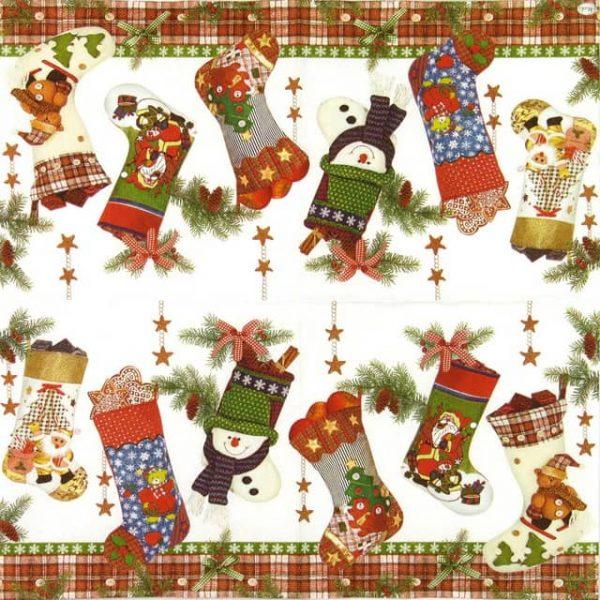 Paper Napkin - Christmas Stocking