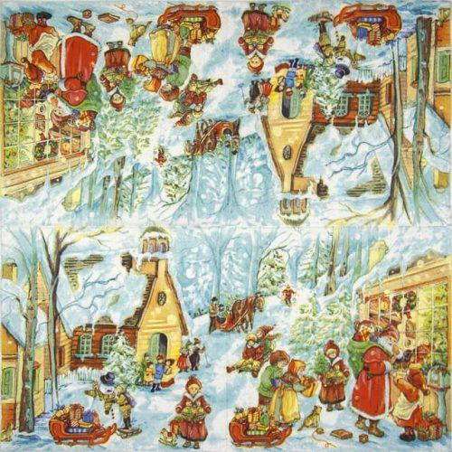 Lunch Napkins (20) - Santa with Kids
