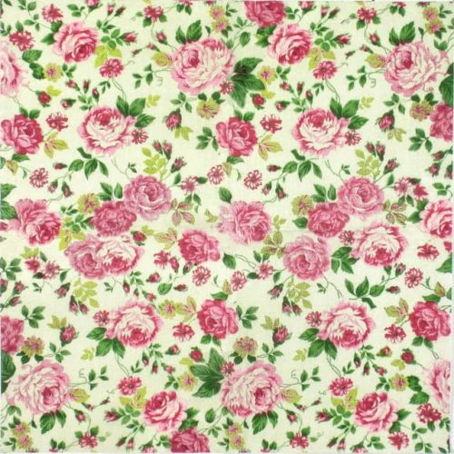 Paper Napkin - Rose Fabric
