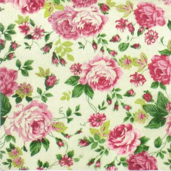 Paper Napkin - Rose Fabric