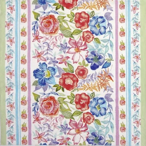 Lunch Napkins (20) - Watercolour Floral Pattern