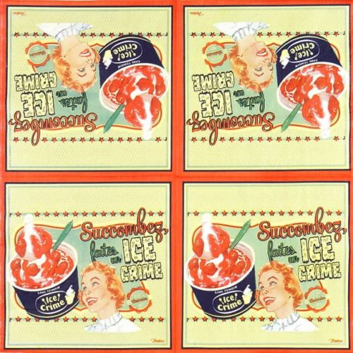 Lunch Napkins (20) - Retro Style Ice Cream