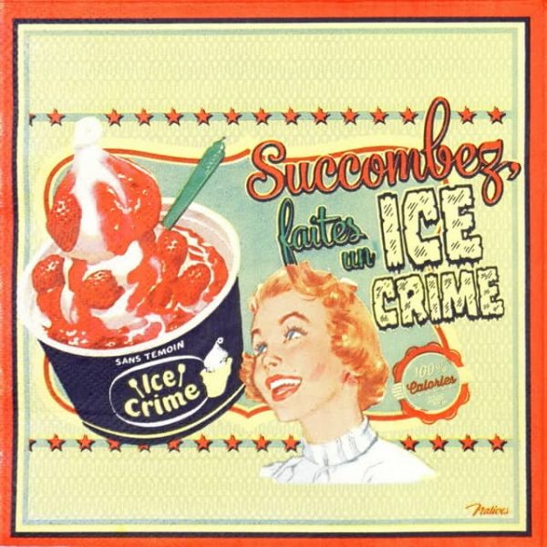 Lunch Napkins (20) - Retro Style Ice Cream