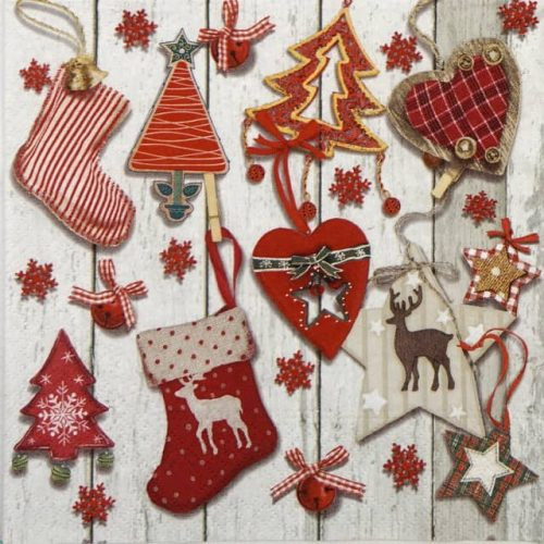 Lunch Napkins (20) - X-mas tags