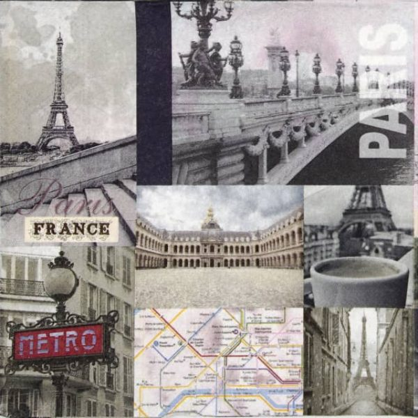 Lunch Napkins (20) - Paris City Life
