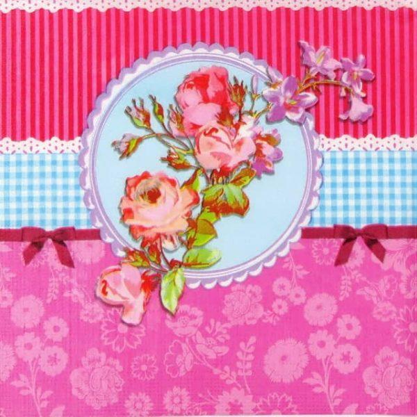 Paper Napkin - Roses Wallpaper