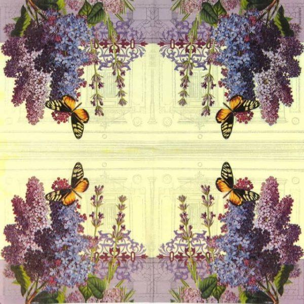Paper Napkin - Lilac Landscape