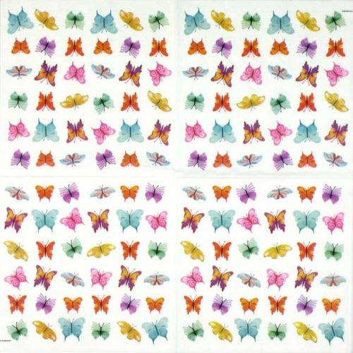 Paper Napkin - Butterflies Collage