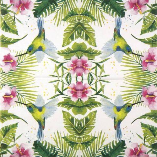 Lunch Napkins (20) - Carola Pabst: Tropical Tropical Hummingbird