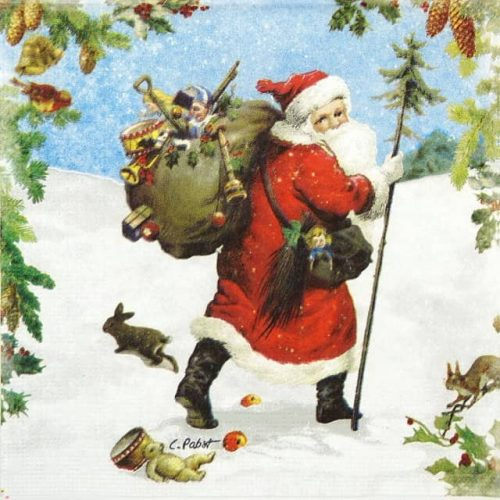 Paper Napkin - Carola Pabst: Santa is Near_PPD_3331410