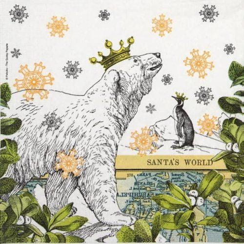 Paper Napkin -  Pabuku: Icy Christmas