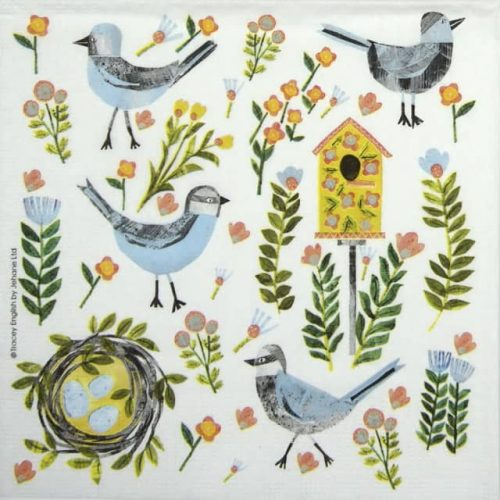 Paper Napkin - Tracey English: Beauty Nest