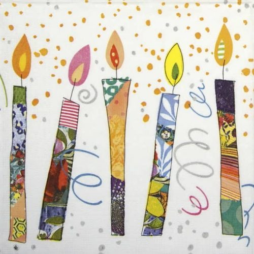 Lunch Napkins (20) - Turnowsky: Birthday Candles