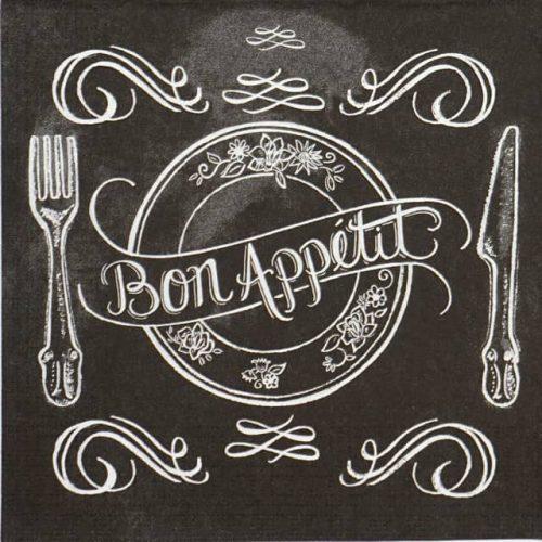 Lunch Napkins (20) - Lily & Val: Blackboard Apetit