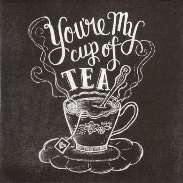 Lunch Napkins (20) - Lily & Val: Blackboard Tea