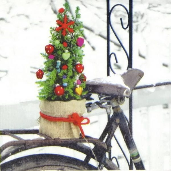 Paper Napkin - Carmosino: Christmas Bicycle