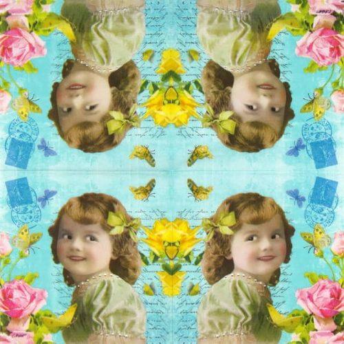 Paper Napkin - Cute Girl