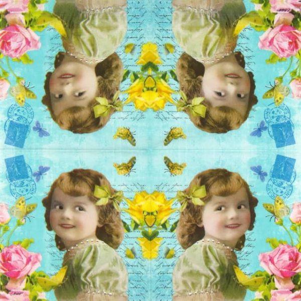 Lunch Napkins (20) - Carola Pabst: Cute Girl