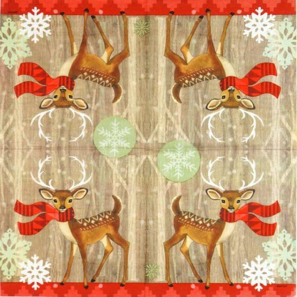 Paper Napkin - Jennifer Brinley: Deer with Scarf